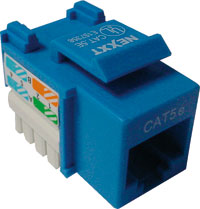 Jack RJ45 CAT6 Tipo 110 Azul 22-26 AWG